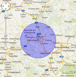 mapSchlüsseldienst-Hannover Nordstadt